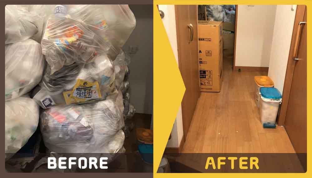 ゴミ屋敷をなんとかしたいと、お客様からご依頼いただきました。
