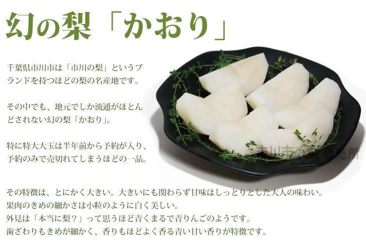 1玉500円幻の梨「かおり」