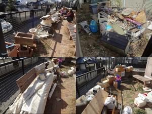 岡山市内にて2tトラック積み放題プランのビフォー写真2
