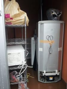 岡山市北区で洗濯機、レンジなど回収のビフォー写真