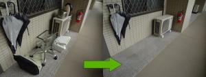 岡山市北区で家電、水槽回収の写真