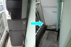 岡山市北区で冷蔵庫、テレビ回収の写真