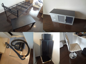 岡山市でベッドや冷蔵庫の回収のお客様の画像1