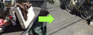 岡山市でベッドやカラーボックス等の回収のお客様の画像