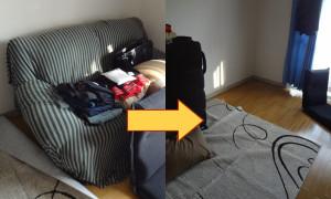 岡山市でソファーやベッドフレームの回収の画像