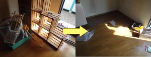 岡山市でエアコンやカラーボックス等の回収の画像1