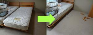 岡山市でシングルベッドの回収のお客様の画像