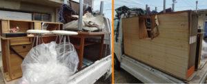 岡山市南区でテーブル2点の回収の写真