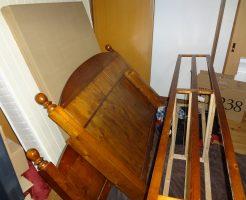 処分に困っていた大きなベッドもあっという間に回収し、お喜びいただけました!