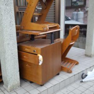 【岡山市中区】回転いす、学習机の回収・処分ご依頼 お客様の声