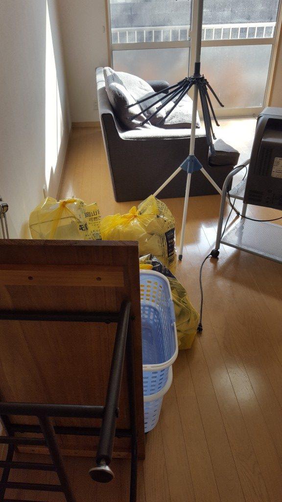 【岡山市北区】軽トラ積み放題プランでの回収☆お得な値段で処分することができ、大変喜んでいただきました!