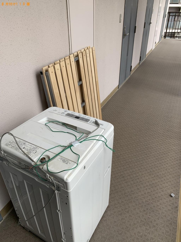 【岡山市】洗濯機、シングルベッド、簡易ソファーの回収・処分ご依頼