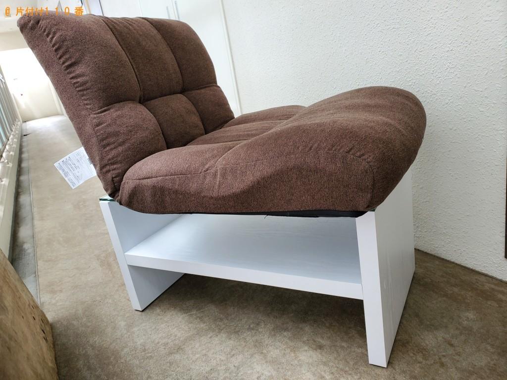 【美作市】ガラステーブル、座椅子の回収・処分 お客様の声