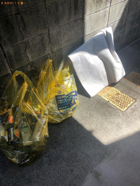 【新見市】空き瓶、ガラス、カーペット、すのこの回収・処分ご依頼