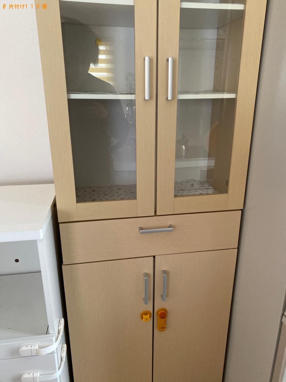 【岡山市北区】食器棚、レンジ台の回収・処分ご依頼 お客様の声
