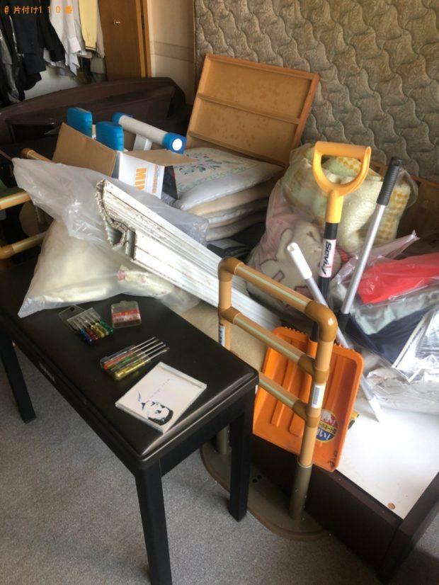 【津山市】遺品整理に伴いカーペット、本棚、椅子、学習机、布団等の回収・処分