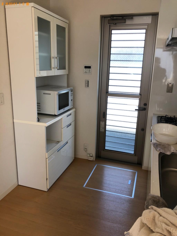 【倉敷市茶屋町】洗濯機、食器棚、テレビ台の回収・処分ご依頼