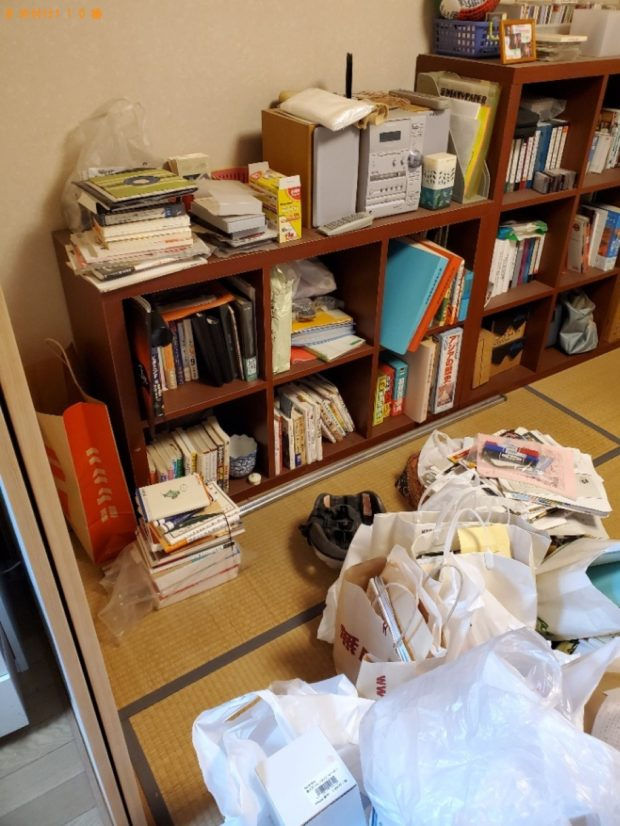 【倉敷市】こたつ、本棚、ラック、レンジ台等の回収・処分ご依頼