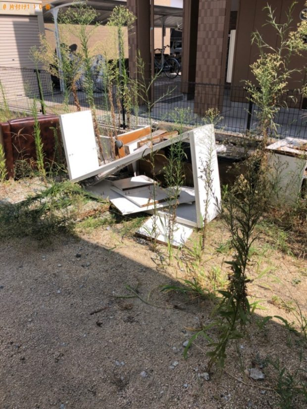 【倉敷市】遺品整理に伴いタンス、ソファー、テレビ台の回収・処分ご依頼