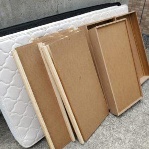 【岡山市中区】シングルベッド、ベッドマットレスの回収・処分ご依頼