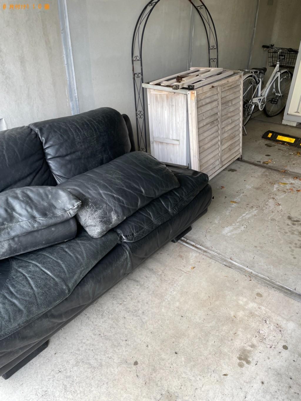 【岡山市】三人掛けソファー、収納庫の回収・処分ご依頼 お客様の声